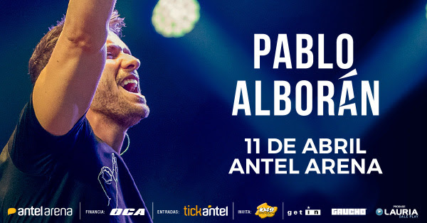 PABLO ALBORÁN Cierra su gira mundial #TOURPROMETO Jueves 11 de Abril de 2019, 21:00 hs. Antel Arena