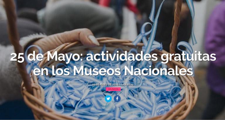 FESTEJOS DEL 25 DE MAYO