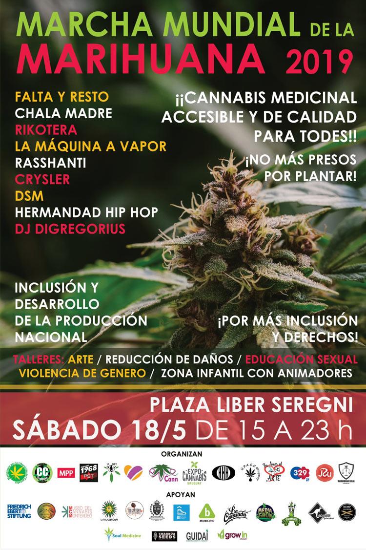 Este año nos encuentra ante una nueva Marcha Mundial por la Marihuana en Uruguay a 5 años de implementada la ley de regulación del Mercado de Marihuana.