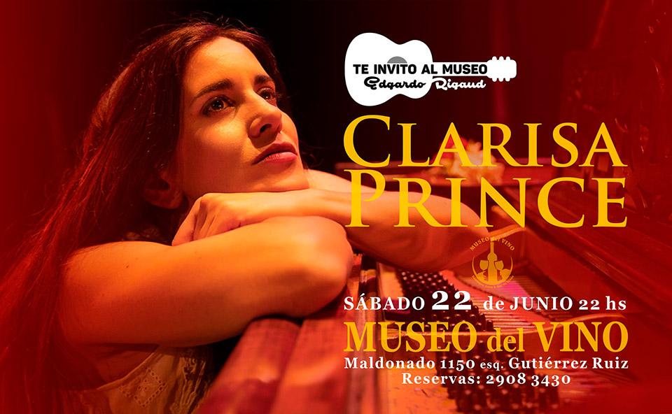 El guitarrista EDGARDO RIGAUDpresenta'Te invito al Museo'acompañado por la cantanteCLARISA PRINCE