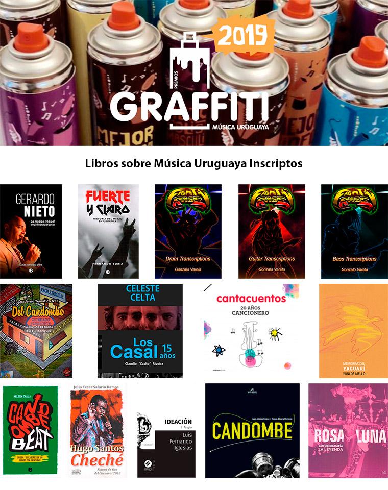 Libros sobre Música Uruguaya Inscriptos Premios Graffiti 2019