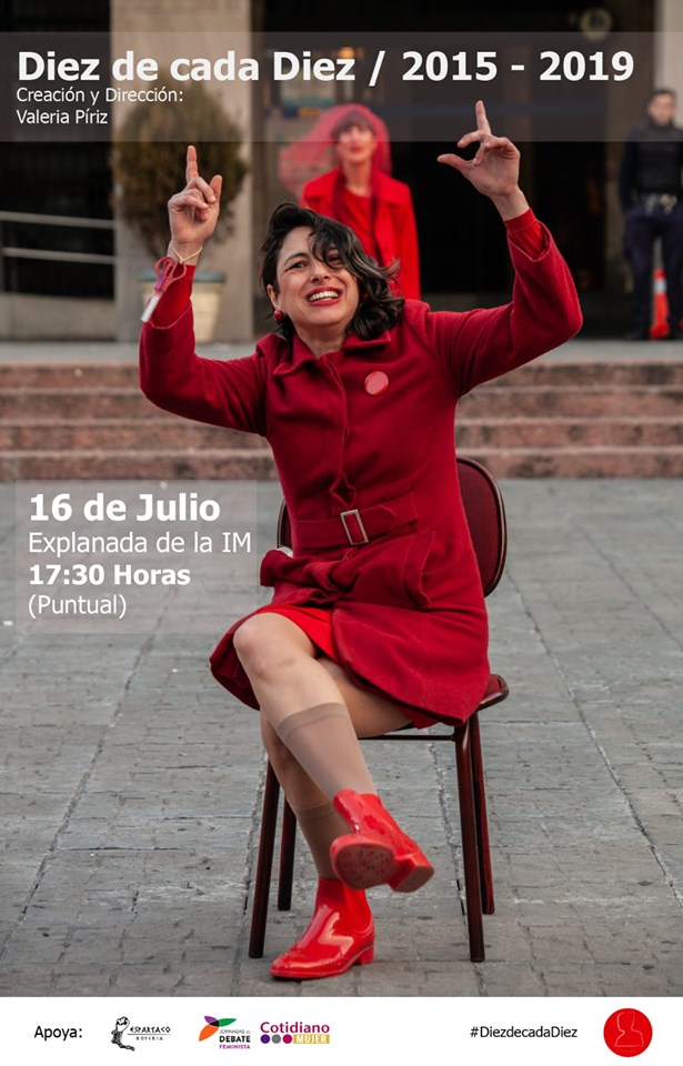 DIEZ DE CADA DIEZ Estaremos participando de las Jornadas de Debate Feminista 2019. Martes 16 de julio 17:30 horas Explanada Intendencia