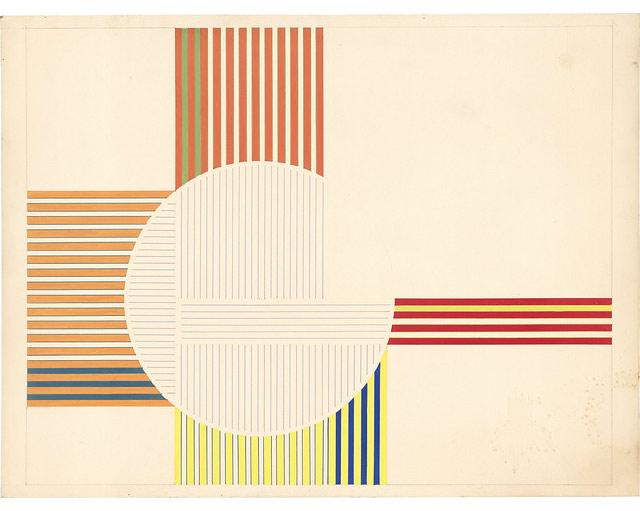 """Julio-Le-Parc-""""Cercle-virtuel""""-1959-acuarela-sobre-carto´n-38-x-497-cm.-Atelier-Le-Parc."""