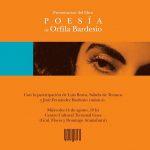 Presentación de obra poética de Orfila Bardesio