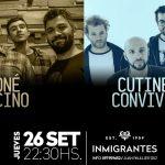 Cutinella & Convivientes – Coné Vecino en Inmigrantes: 26 de setiembre