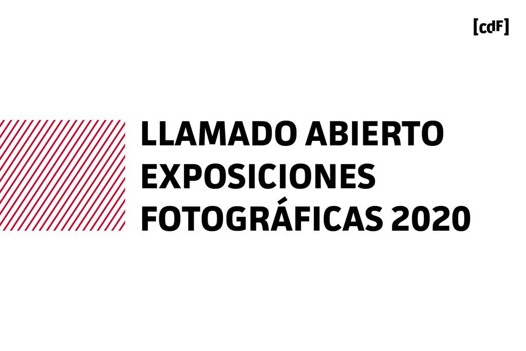 El Centro de Fotografía de Montevideo presenta las bases del Llamado Abierto a Exposiciones Fotográficas 2020. Los trabajos seleccionados se exhibirán a lo largo del próximo año en las salas de Planta Baja, Subsuelo, Pegatina y Fotosecuencia de la Sede del CdF y en las Fotogalerías a cielo abierto de Prado, Capurro y Goes. Las postulaciones a la convocatoria se recibirán desde el 12 de octubre hasta el 20 de octubre de 2019.