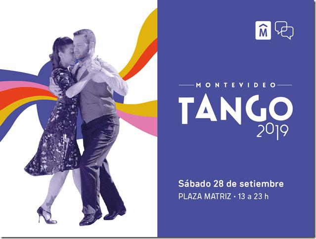 Montevideo Tango vuelve a la plaza Matriz El próximo sábado 28 de setiembre a partir de la hora 13 Con más de 200 artistas de la música y la danza de Uruguay y Argentina, gran producción artística y transmisión en vivo por TV Ciudad, se realizará la segunda edición de Montevideo Tango. ENTRADA LIBRE