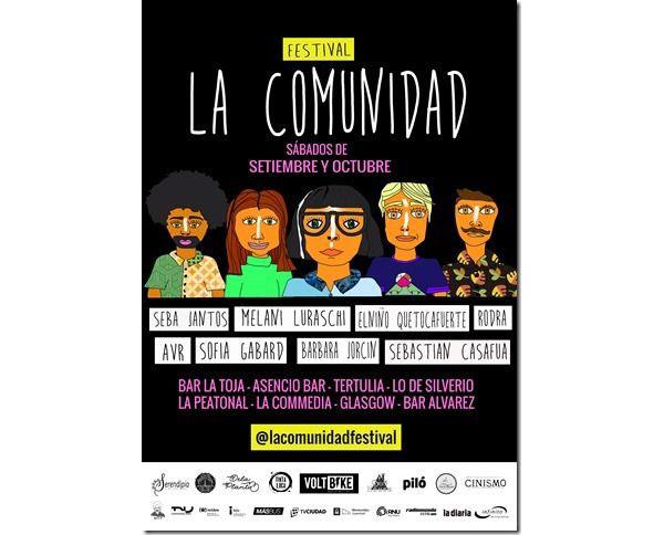 Festival de música LA COMUNIDAD. 8 fechas, 8 artistas, 8 bares