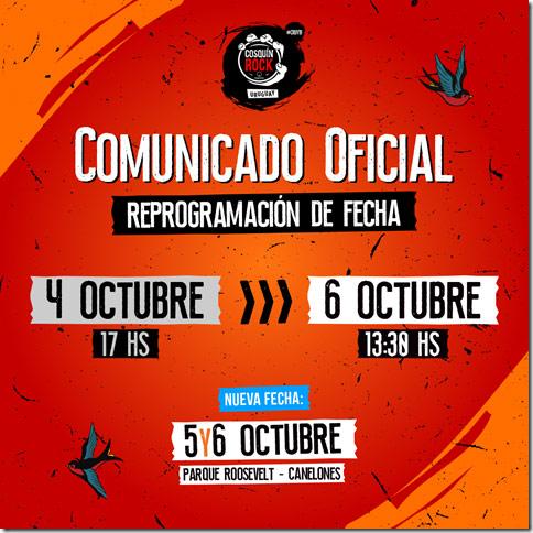Cosquín Rock Uruguay - Comunicado oficial