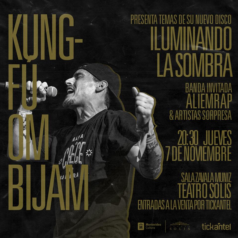 """Kung-Fú OmBijam adelanta """"Iluminando la sombra"""" en el Teatro Solís. El próximo 07 de noviembre"""