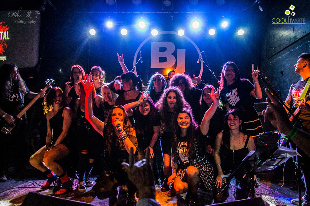 Rock & Metal Ladies - 10 años - Bj sala - Nameless- Mojo Rock & Roll- Binaural- Octubre 2019 - Foto Aiko Gabrielle www cooltivarte com