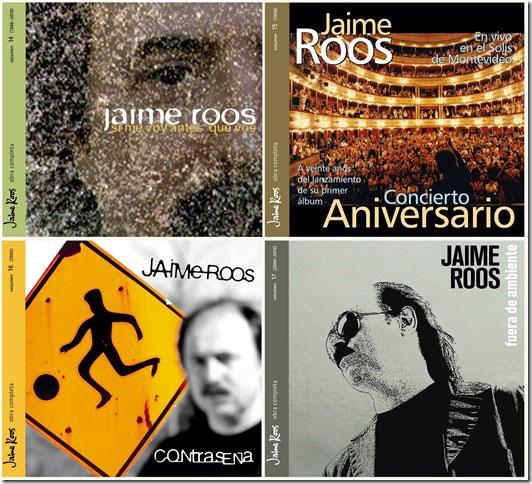 """JAIME ROOS Nueva entrega de su """"Obra completa"""": Si me voy antes que vos, Concierto aniversario, Contraseña y Fuera de ambiente (volúmenes 14 al 17)"""