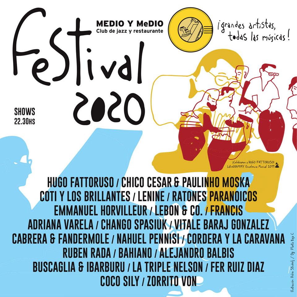 LANZAMIENTO PROGRAMACIÓN FESTIVAL MEDIO Y MEDIO 2020 27 DE DICIEMBRE AL 29 DE FEBRERO - PUNTA BALLENA - URUGUAY
