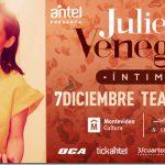 """JULIETA VENEGAS presenta su show """"INTIMO"""" en MONTEVIDEO"""