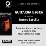 «Guitarra negra» de Ramiro Sanchiz 14/12 en Kalima
