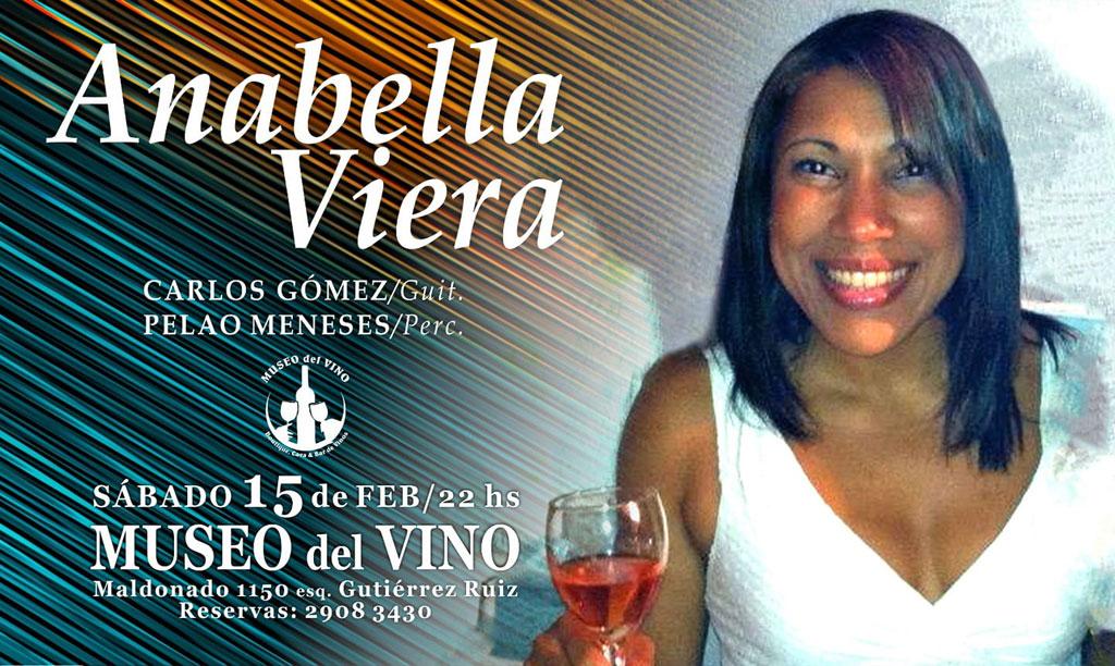 JAZZ en la CAVA con la cantante ANABELLA VIERA Una noche con el mejor jazz Acompañada por Pablo 'Pelao' Meneses en percusión y Carlos Gómez/ guitarra.