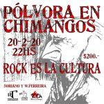 PÓLVORA EN CHIMANGOS en Montevideo