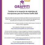 Cambios en la recepción de materiales – Premios Graffiti 2020