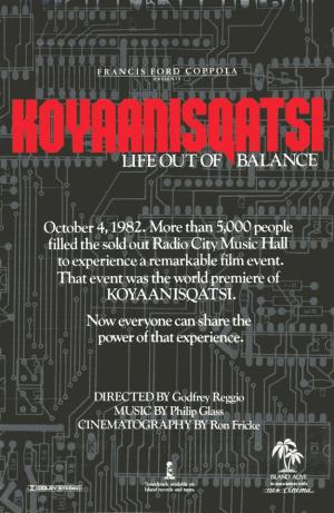 Koyaanisqatsi_poster Imagen: http://upload.wikimedia.org/wikipedia/en/8/85/Koyaanisqatsi_poster.png
