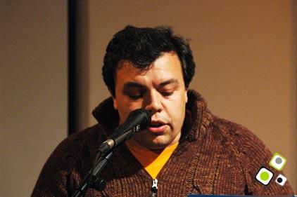 Adolfo Sarmiento en Festival Ñ - Teatro Solís - Escritor - Foto: Federico Meneses