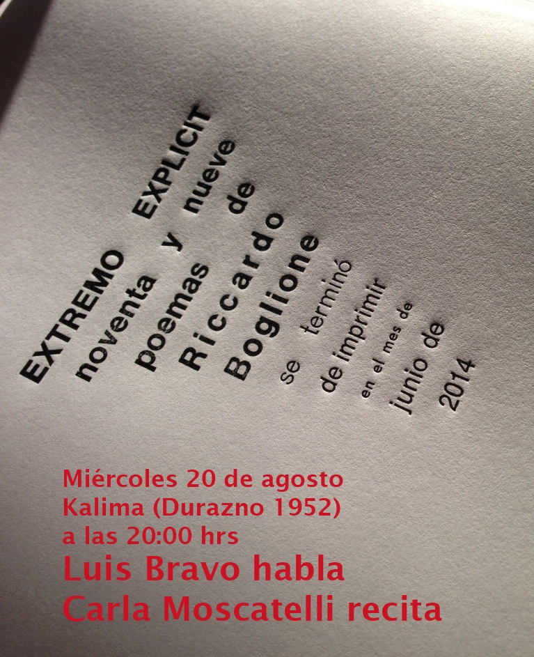 presentación libro Extremo Explicit de Riccardo Boglione