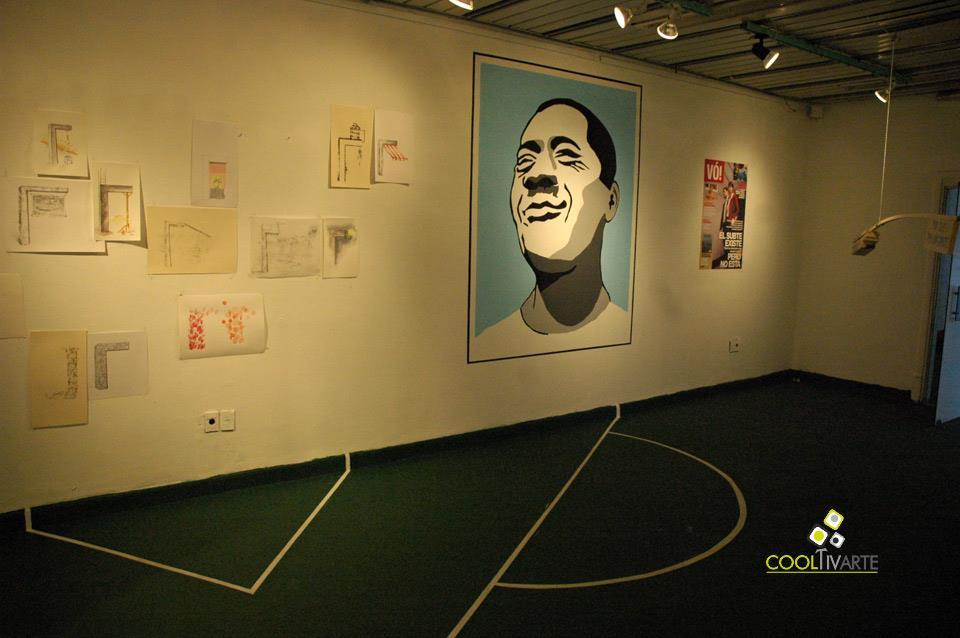 imagen - Maracanazo - Muestra colectiva - cme-SUBTE - Octubre 2009 - © Federico Meneses