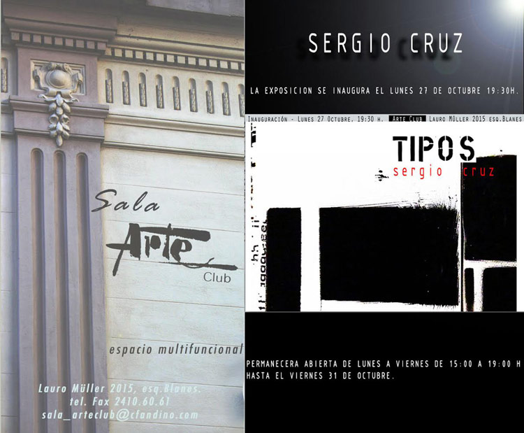 afiche - TIPOS - Sergio CRUZ