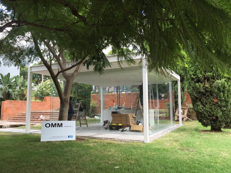 imagen - Pabellón de Cristal en el jardín del MNAV
