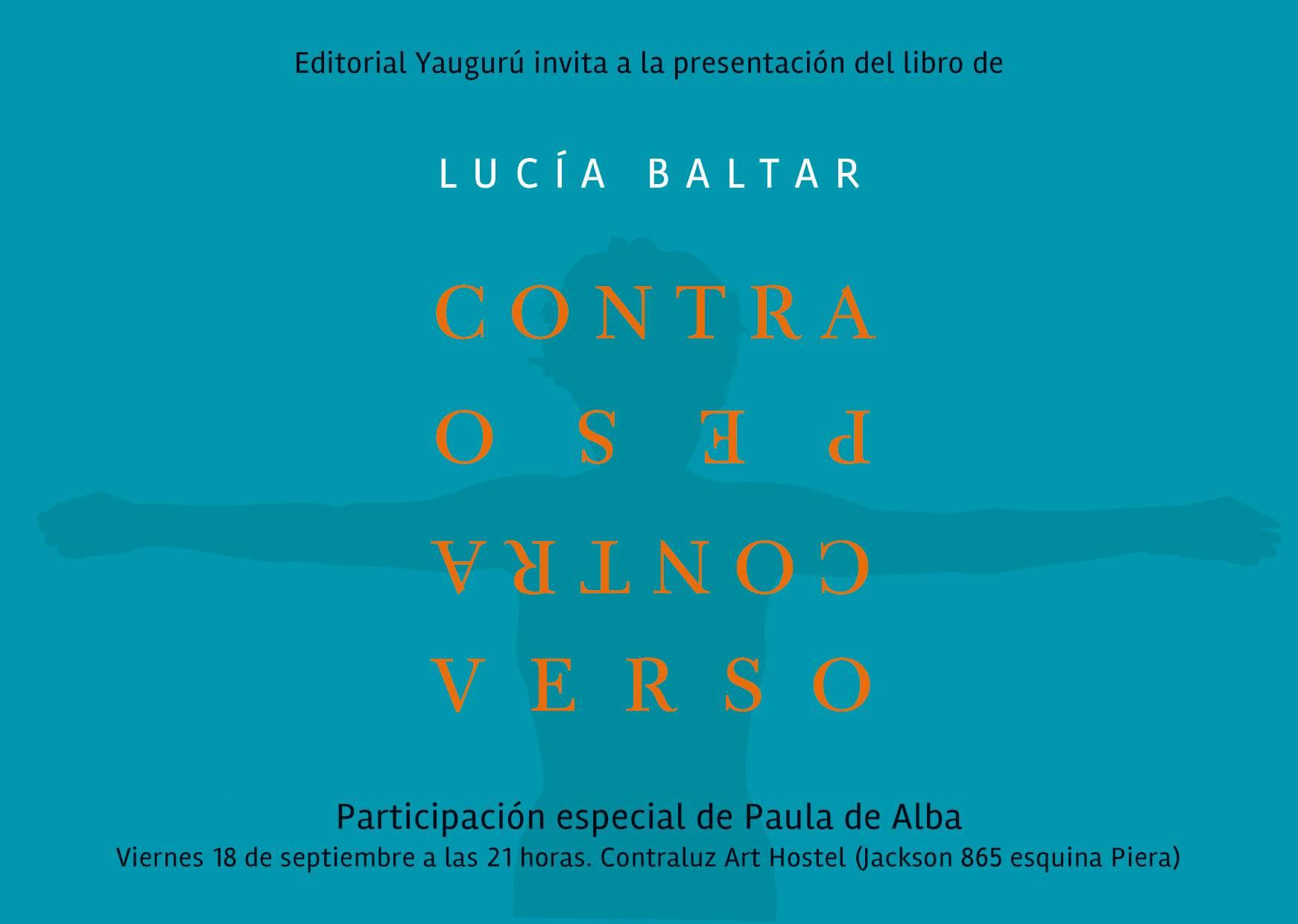 Libro Contrapeso Contraverso - Lucía Baltar