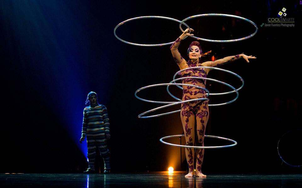 Pequeño adelanto de lo que fue el preestreno de KOOZA by Cirque du Soleil. Cirque du Soleil. 8 de Marzo de 2016. Foto © Javier Fuentes Photography