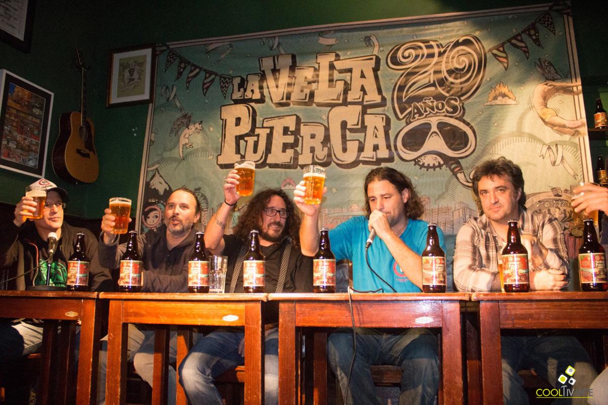 """""""Festejar para sobrevivir"""" gira La Vela Puerca 20 años y lanzamiento Cerveza Puerca - 26 de octubre 2016 - Brickell Irish Pub - Foto © Patricia Baccino"""