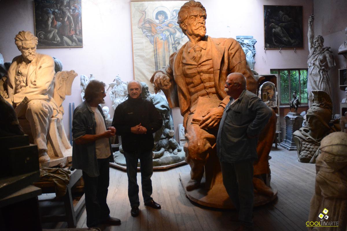 Visita guiada al taller de José Luis Zorrilla de San Martín - Octubre 2016 - Foto © Federico Meneses