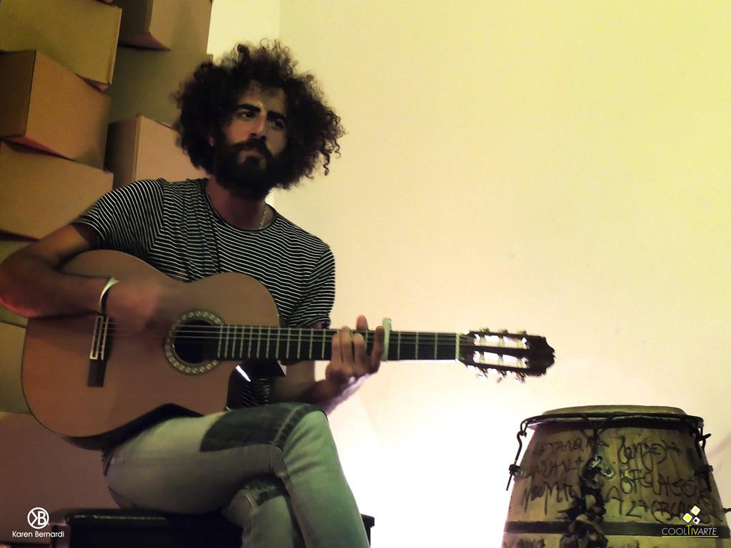 Sesiones acústicas 'Apata suelta' · Bárbara Jorcin - Andrés Barreiro - Damián Gularte. Fotografía: Karen Bernardi