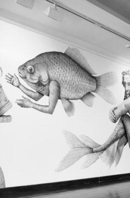 ÁRBOL GENEALÓGICO DE SIRENIDOS POSIBLES E IMPOSIBLES - Fecha: del 1 de septiembre al 03 de diciembre 2017. Lugar: Museo Zorrilla. Artistas: Nicolás Sánchez Nicolas Alfalfa. © Mery Arias www.cooltivarte.com