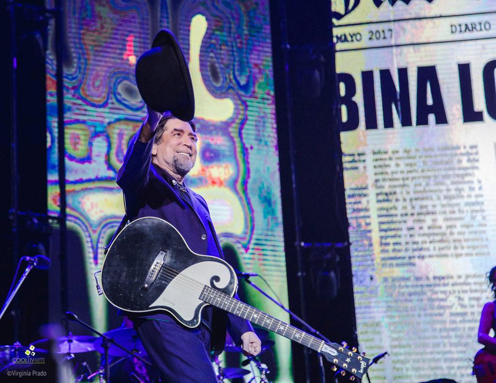 Joaquín Sabina presentó su último disco LO NIEGO TODO Estadio Centenario. 16 de Diciembre 2017 Fotos: Virginia Prado