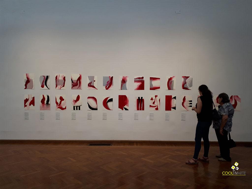 Papeles y telas - Salvatore Garau - Museo Juan Manuel Blanes - Marzo 2018 - Foto tomada de celular © Federico Meneses