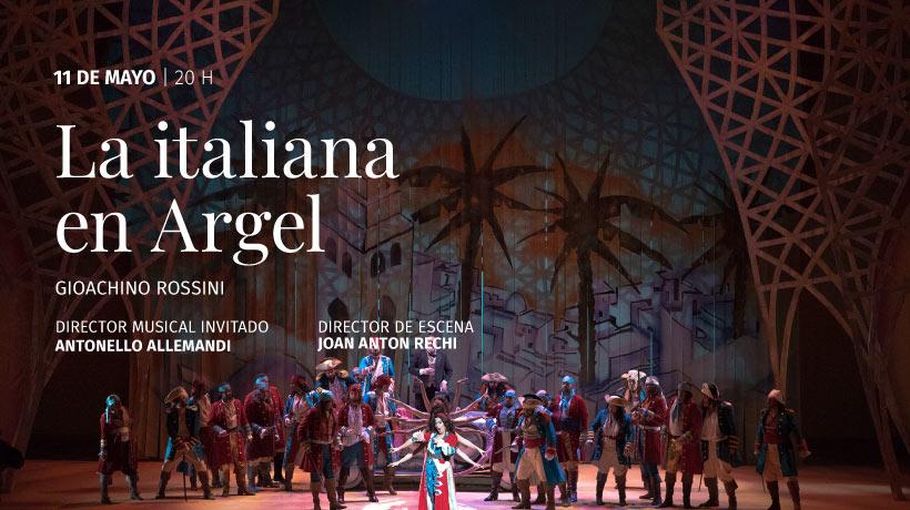 ópera La Italiana en Argel en vivo a través de www.teatrocolon.org.ar