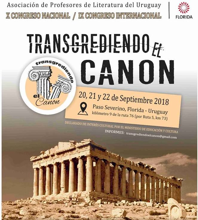 El 20, 21 y 22 de setiembre se realizará en Paso Severino (Florida) el Congreso Nacional de Profesores de Literatura