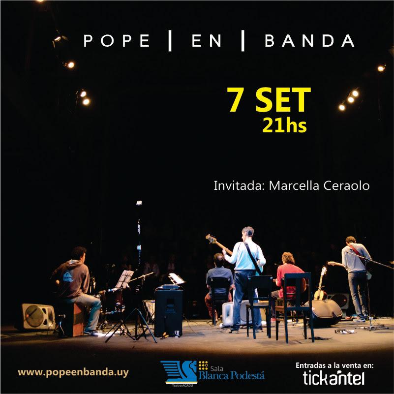 Pope en banda presenta Urvbanidad Viernes 7 de setiembre | 21hs | Sala Blanca Podestá - Teatro AGADU