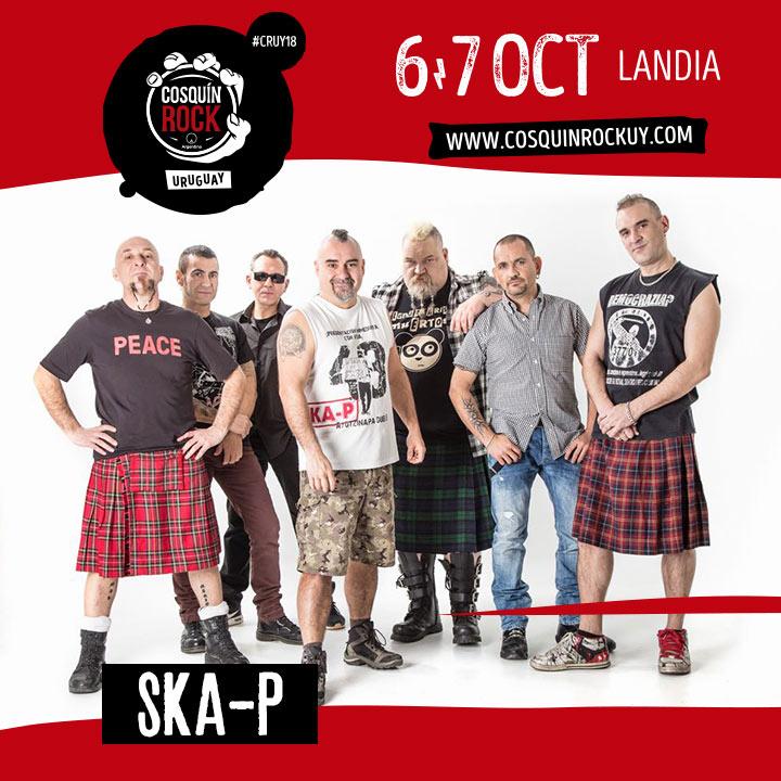 SKA-P :: 6 y 7 de octubre :: COSQUÍN ROCK URUGUAY :: LANDIA - Centro de Espectáculos Parque Roosevelt