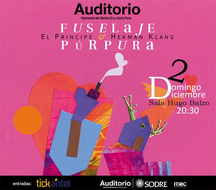 Fuselaje púrpura, el disco, será presentado el domingo 2 de diciembre, el día en que El Príncipe habría cumplido 63 años, a las 20.30 en la Sala Hugo Balzo del Auditorio del Sodre.