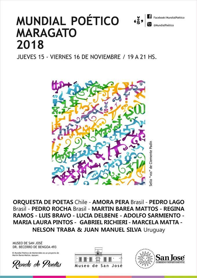 Ronda de poetas y la Intendencia Municipal de San José MUNDIAL POETICO MARAGATO