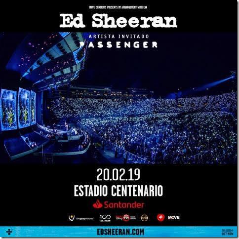Horarios ED Sheeran