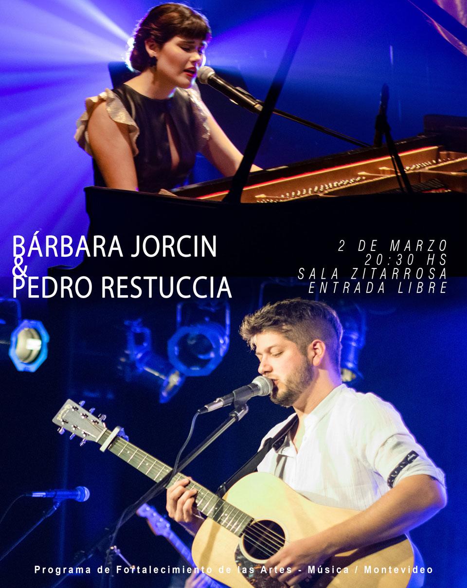 Bárbara Jorcin + Pedro Restuccia Sexteto Sábado 2 de Marzo - 20:30 hs | Sala Zitarrosa