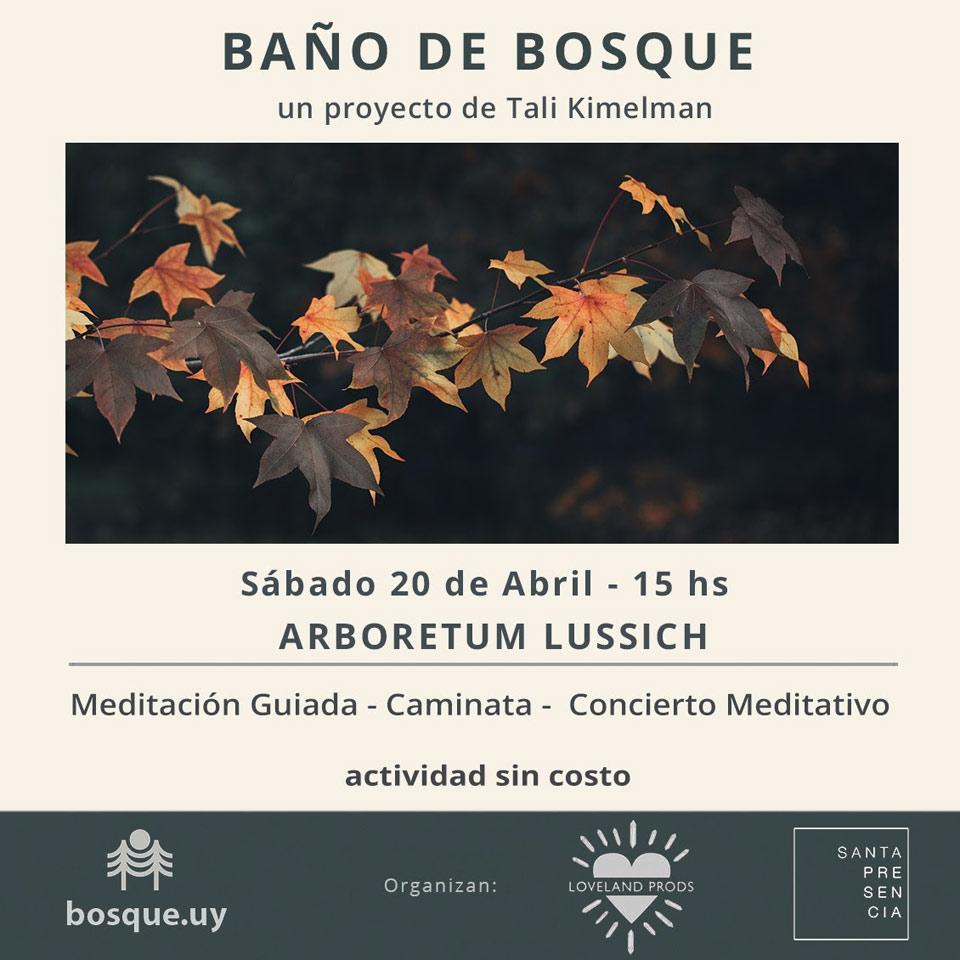 Baño de Bosque - 20 de abril de 2019 - Arboretum Lussich - Una experiencia única en la Naturaleza