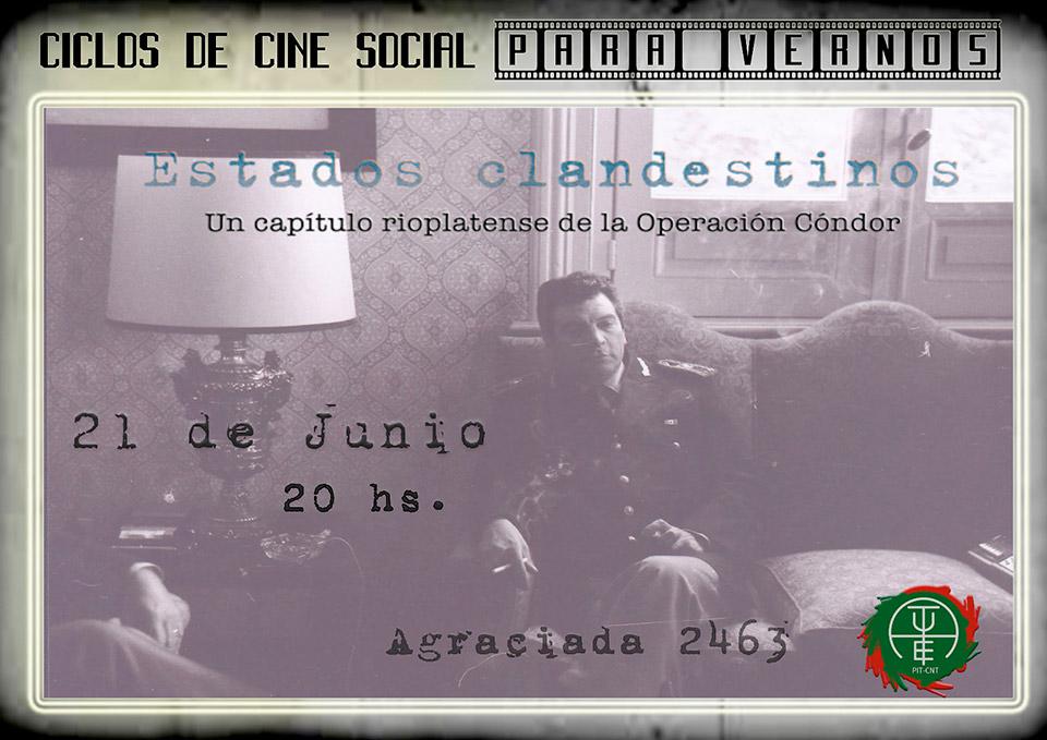 En el marco del 46 aniversario del Golpe de Estado, AUTE invita al Ciclo de Cine Social, Para Vernos, el viernes 21 de junio, a las 20 hs., en Agraciada 2463.