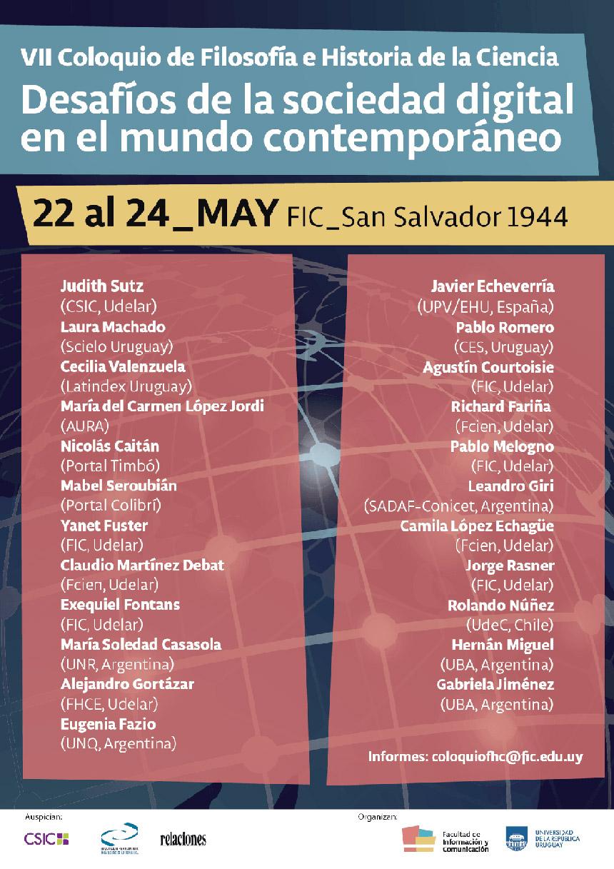 Mi exposición en el VII Coloquio de Filosofía e Historia de la Ciencia (FIC - UDELAR), planteando urgencia de una inclusión crítica de las nuevas generaciones, en tiempos de saturación y filtro de la información.