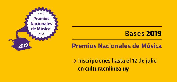 Convocatoria Premios Nacionales de Música 2019