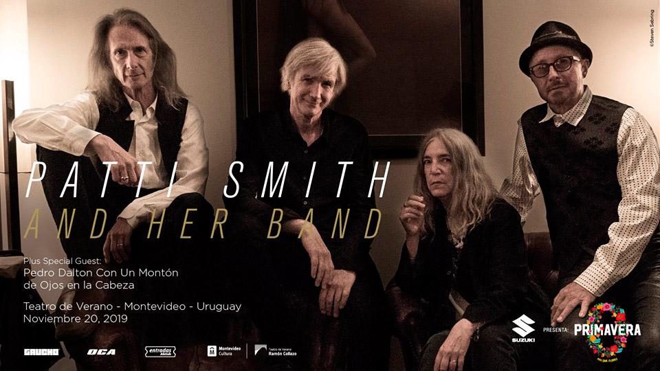 Primavera 0 2019: Patti Smith and Her Band en el Teatro de Verano de Montevideo
