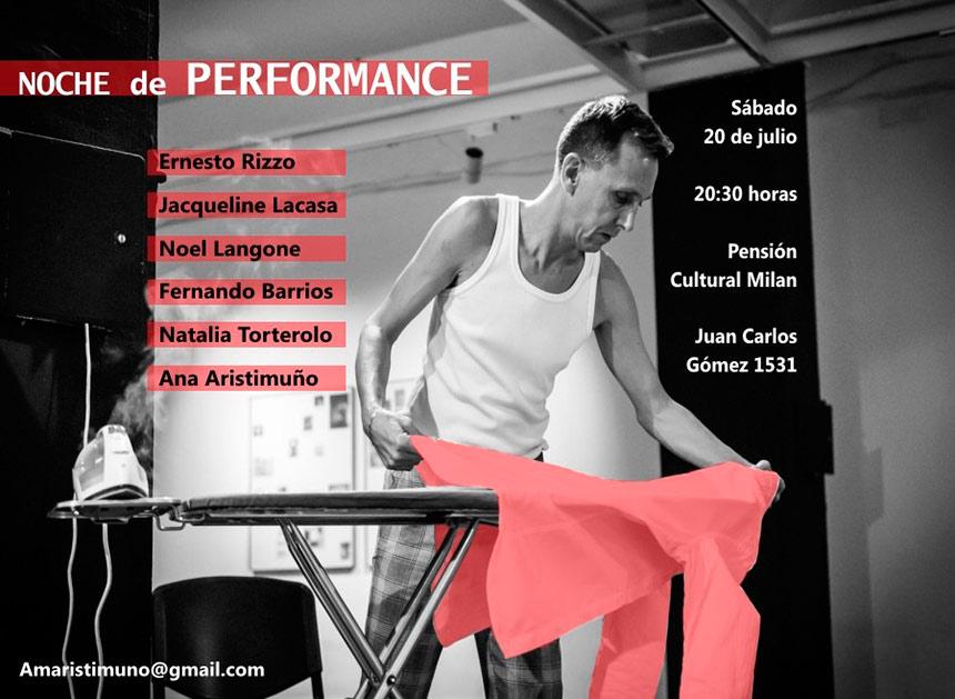 Pensión Cultural Milán en Juan Carlos Gómez 1531: Noche de performances